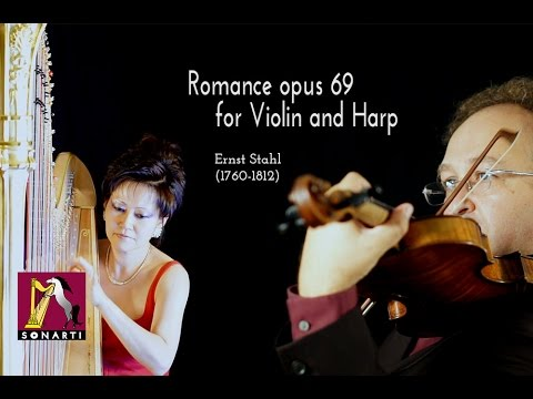 Video Ernst STAHL: Romance in F Major opus 69 for Violin and Harp - Duo Sutre-Kim