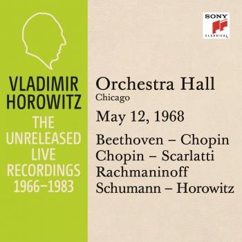 Cover Vladimir Horowitz in Recital at Orchestra Hall, Chicago, May 12, 1968