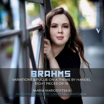 Cover Brahms: 25 Variations & Fugue on a Theme by Handel, Op. 24 & 8 Piano Pieces, Op. 76 (Live)