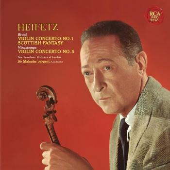 Cover Bruch: Violin Concerto No. 1 in G Minor, Op. 26 & Scottish Fantasy, Op. 46 - Vieuxtemps: Violin Concerto No. 5 in A Minor, Op. 37 - Heifetz Remastered
