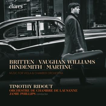 Cover Music for Viola & Chamber Orchestra: Vaughan Williams, Martinů, Hindemith & Britten
