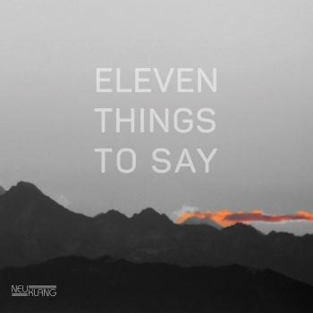 Cover Eleven Things to Say