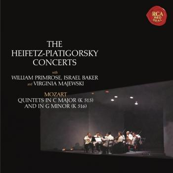 Cover Mozart: String Quintets No. 3 in C Major, K. 515 & No. 4 in G Minor, K. 516 - (Heifetz Remastered)