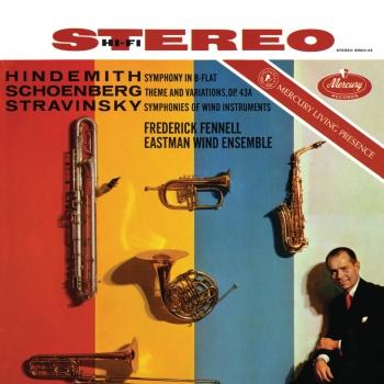 Cover Hindemith: Symphony in B Flat; Schoenberg: Theme & Variations; Stravinsky: Symphonies for Wind